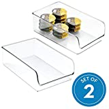 InterDesign 57030M2 Linus Kitchen, Pantry, Refrigerator, Freezer Storage Container, Clear, Large, 2 Pack