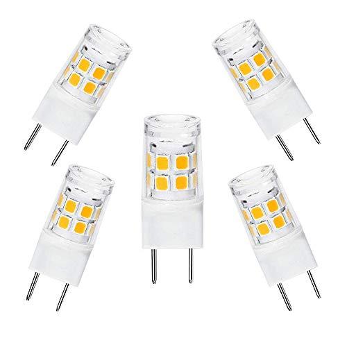 - LED G8 Light Bulb 2.5 Watts Warm White G8 Base Bi-pin Xenon JCD Type LED 120V 20W Halogen Replacement Bulb for Under Counter Kitchen Lighting, Under-Cabinet Light.Pack of 5 (Warm White)