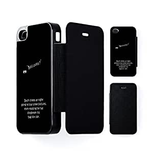 Bag for Life Black Flip Case Snap-On Protective Hard Cover for Apple? iPhone 4 / 4s by Clive Gardner + FREE Crystal Clear Screen Protector
