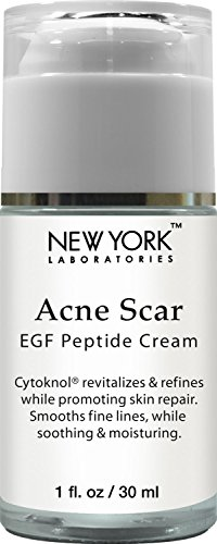 New York Laboratories Acne Scar Removal Cream with EGF Peptide-Cytoknol, Helps with Skin Repair, Reduces the Appearance of Acne Scars, Fine Lines & Wrinkles, 1 oz