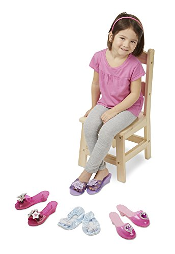 Melissa & Doug Role Play Collection – Step In Style! Dress-Up Shoes Set (4 Pairs)