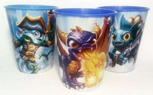 Skylanders 16oz Plastic Keepsake Cups - Set of 3 - Spyro, Wash Buckler, Gill Grunt