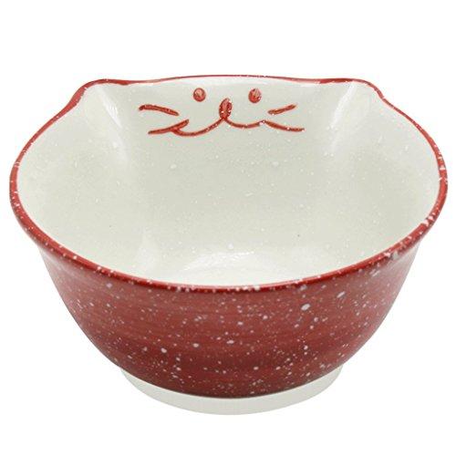 RUNWEI Art Creative Personality Cutlery Salad Bowl Fruit Bowl Classic Practical Fashion Dish Bowl Ceramic Bowl (Size : Red) ()