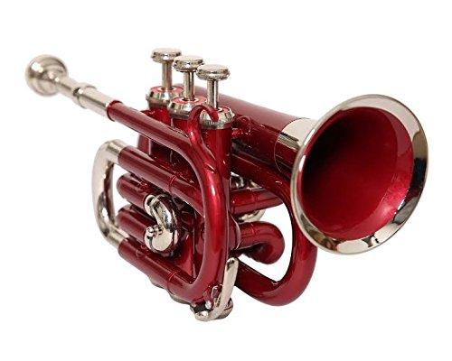 Nasir Ali Ptr-10 Pocket Trumpet RED + NICKEL by NASIR ALI