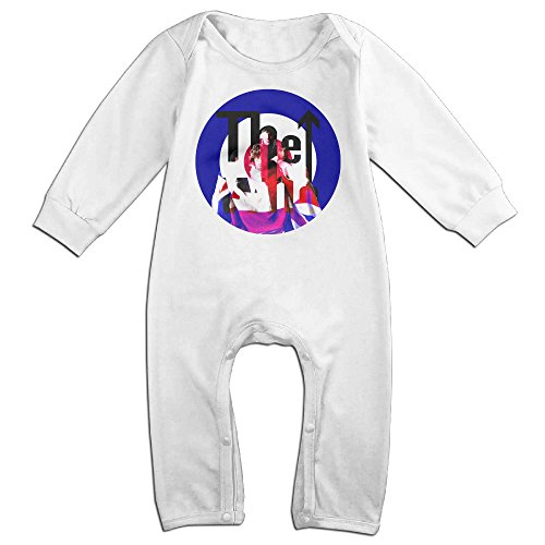 [KIDDOS Baby Infant Romper The Who Long Sleeve Jumpsuit Costume,White 18 Months] (Odd Squad Costume)