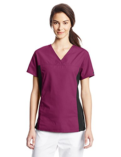 Cherokee Women's V Neck Scrubs Shirt, Wine, X-Large