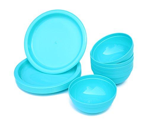 plastic bowls and plates set - 4
