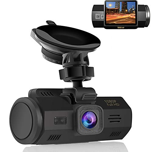 SENDOW Dash Camera for Cars, Full HD 1080P 150° Wide Angle Vehicle Dashboard Camera with 2'' LCD Sony Sensor Night Vision Loop Recording Time Lapse