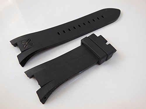 Black Rubber Diver Watch Strap Band For Ar. - Ar Armani Watch