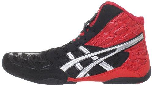 ASICS Men's Split Second 9 Wrestling Shoe,Red/Silver/Black,9 M US