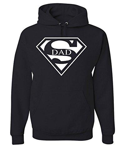 Tee Hunt Super Dad Hoodie Funny Superhero Father's Day Sweatshirt Black L for $<!--$27.29-->
