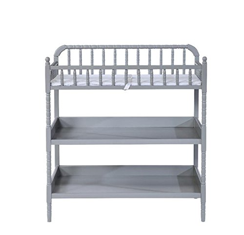 Shermag Jenny Ling Changing Table – Fog Gray