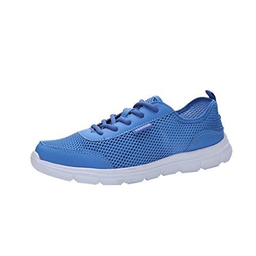 Espadrilles Blue Walking Gym Men Trainers Thongs Lace Couple Dance Flops Shoes Breathable Running up Shoes for Flats Sneakers VEMOW Sneakers Hiking Sports Air Flip Wedge Mesh w47aZqn