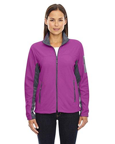 Ladies Full Zip Microfleece Jacket (Ash City - North End Womens Full-Zip Microfleece Jacket (78048) -PLUM ROSE -S)