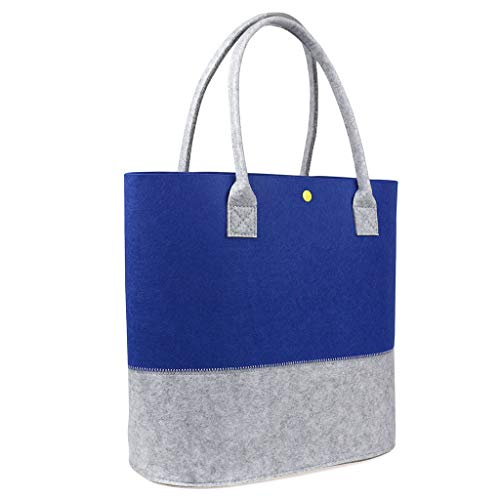 Felt Fashion - Felt Shopping Bag, Fashion Reusable Lady's Shoulder Handbags, Casual Totes Women Bags,Big Capacity Eco-friendly Bags for Women