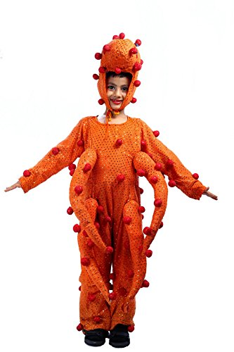 Shree Balaji Dress Big Boys' Octopus Sea Creature Fancy Dress Cosplay Costume Large Orange (Sea Creature Costumes)