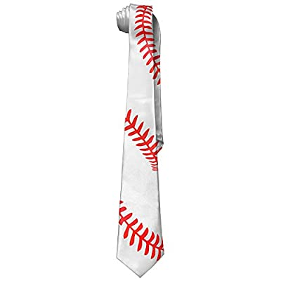 ZQ-SOUTH Men's Baseball Stitches Stylish All Over Skinny Novelty Neck Tie