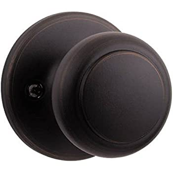 Kwikset Cove Bed Bath Knob In Venetian Bronze Doorknobs