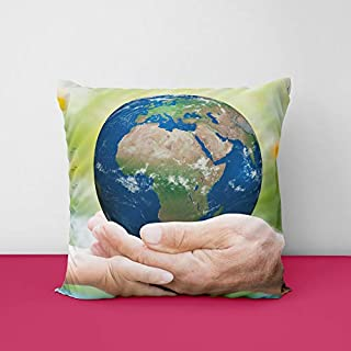 41aF7H6QXjL. SS320 Earth Square Design Printed Cushion Cover