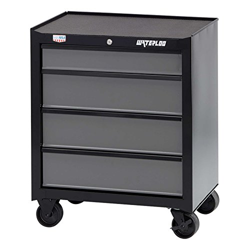 Waterloo W100 Series 4-Drawer Rolling Tool Cabinet, 26