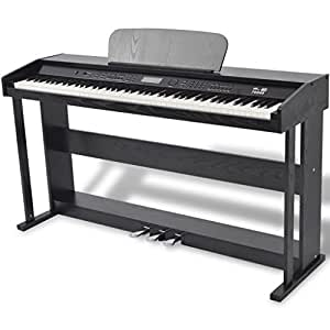 vidaXL 88-Key Digital Piano with Pedal Black Melamine Board Musical Instrument