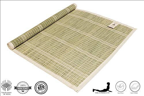 YAAZH DARBHA Cotton Meditation mat for Gym Workout and Flooring Exercise For Men Women (Green & 20″ x 30″) Price & Reviews