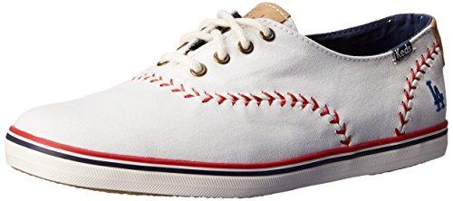 Keds Women's Pennant Fashion Sneaker, Los Angeles Dodgers, 6 M US (Los Angeles Dodgers Fashion)