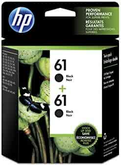 HP 61 | 2 Ink Cartridges | Black | CH561WN