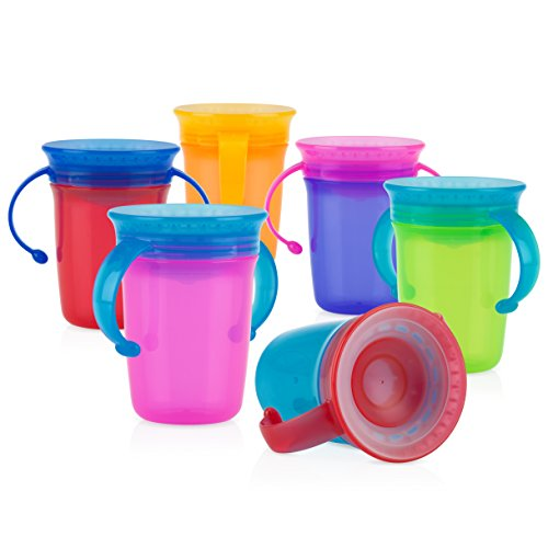 (Nuby 1pk No Spill 2-Handle 360 Degree Wonder Cup - Colors May Vary)
