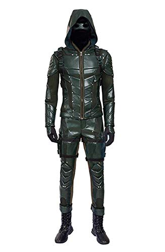 Hot TV Series Men's Archer Green Costume with Accessories Men's Halloween Costume (US Men-M, Green) ()