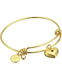 Halos & Glories,Heart Charm Bangle Bracelet