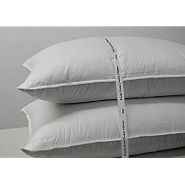 Royal Hotel's Down Pillow - 500 Thread Count 100% Cotton , King Size, Firm, Set of 2