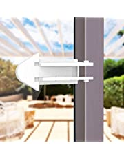 4 Pack Baby Proof Sliding Door Locks Set for Glass Window Entry Door