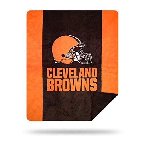 Officially Licensed NFL Cleveland Browns Denali Silver Knit Throw Blanket, Orange, 60