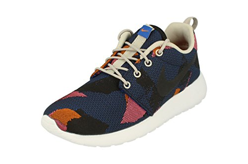 Nike Womens Roshe One JCRD Print Running Trainers 845009 Sneakers Shoes (US 5.5, game royal black 400) ()