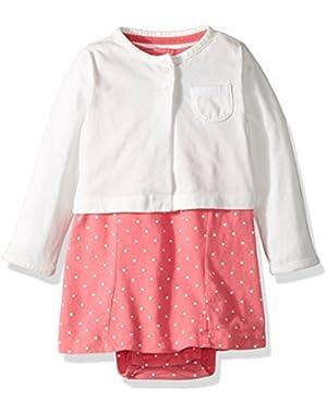 Baby Girls' 2 Piece Dot Dress Set
