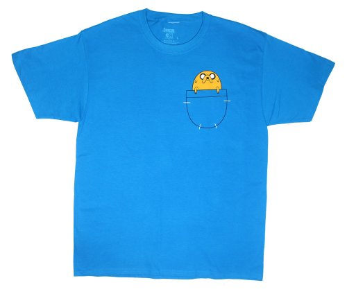 Finn Costume (Adventure Time - Jake in Pocket T-Shirt Size S)