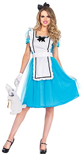 UHC Women's Alice in Wonderland Classic Adult Fancy Dress Party Costume, XL (14-16) - Alice In Wonderland Cheap Costumes