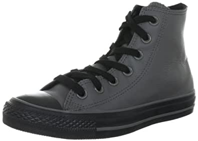 Converse Chuck Taylor All Star Leather  Charcoal 132096C - Zapatillas fashion de cuero unisex, color gris, talla 45