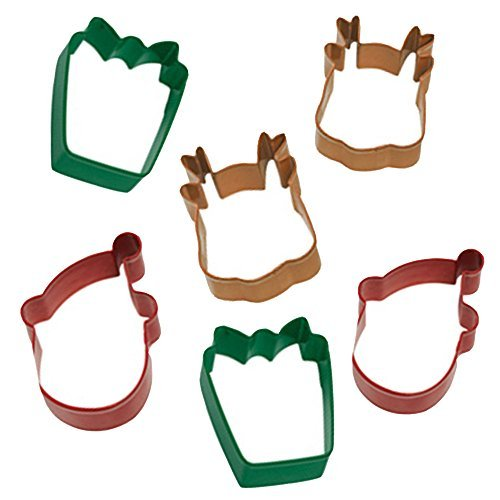 Wilton Holiday Cookie Cutter Set -- Set of 6 Christmas Cookie Cutters