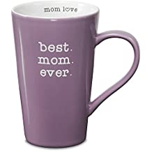 Mom Love Pavilion Gift Company 14016 Stoneware Mug, Best Mom Ever, Multicolored