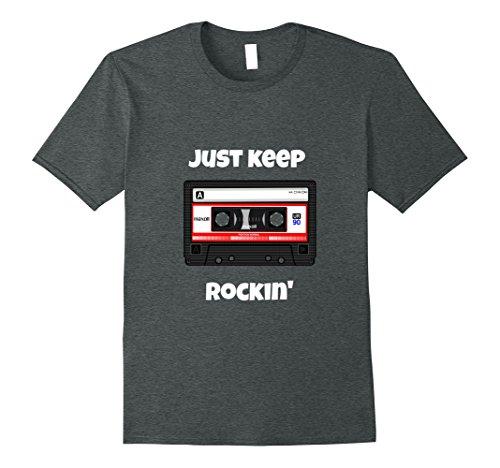 Just Keep Rockin Cassette T-shirt for Men, Women