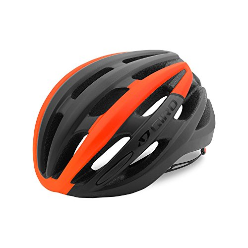 Giro Foray Road Cycling Helmet Matte Black/Vermillion Fade Large (59-63 cm)