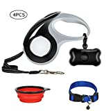 Retractable Dog Leashes for Small/Middle Breed, 360° Tangle-Free Dog Leash with Ergonomic Handle,16 ft Long Retractable Dog Leash Cord, One Button Control Pet Leash with 3 Bonus up to 110lbs(Black)