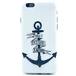 LUOLNH Black Anchor On White Patter Clear TPU Silicone Gel Back Cover Skin Soft Case for iPhone 5C