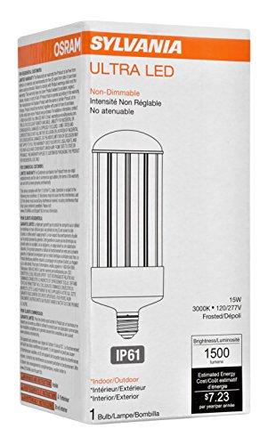 Sylvania 74038 3000K, 1500 lm, Medium Base, Self-Ballasted Ultra LED High Lumen Lamp HID, High Pressure Sodium, Metal Halide Replacement - - Amazon.com
