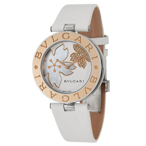 New Ladies Bvlgari B.Zero 1 Flower 18k Rose Gold and Stainless Steel Watch BZ35FDSGL