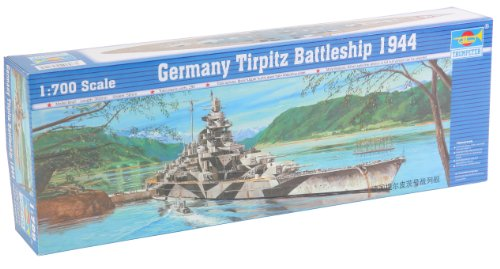 (Trumpeter 1/700 German Tirpitz Battleship 1943 Model Kit)