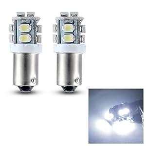 Merdia BA9S 0.4W 28lm 10x3528smd luz de lectura de luz blanca / luz de placa / luz lateral led (12v / par)