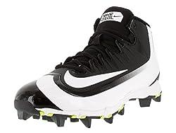 Nike Men's Huarache 2kfilth Keystone Mid Blackwhitevolt Baseball Cleat 9.5 Men Us